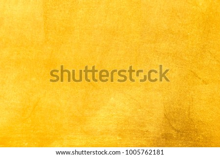 Shiny yellow leaf gold foil texture background - Shutterstock ID 1005762181