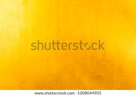 Shiny yellow leaf gold foil texture background #1008044905