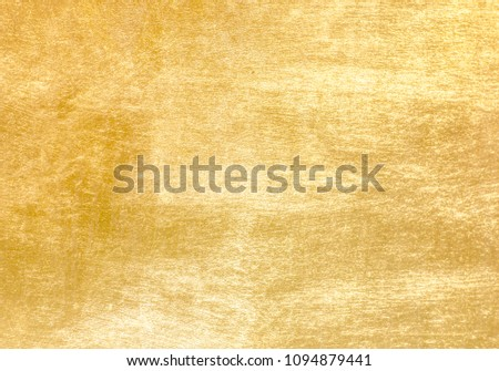 Shiny yellow leaf gold foil texture background #1094879441