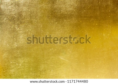 Shiny yellow leaf gold foil texture background #1171744480