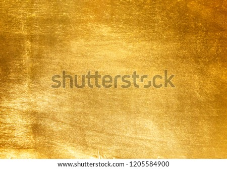 Shiny yellow leaf gold foil texture background #1205584900