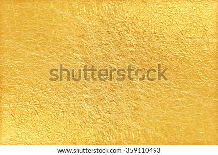Shiny yellow leaf gold foil texture background #359110493