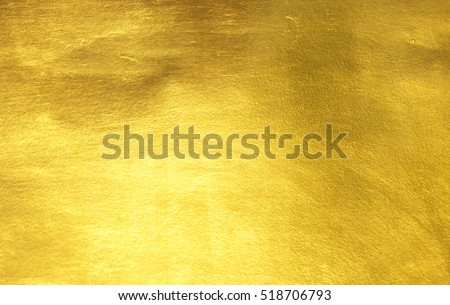 Shiny yellow leaf gold foil texture background #518706793