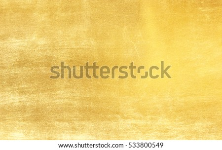 Shiny yellow leaf gold foil texture background #533800549