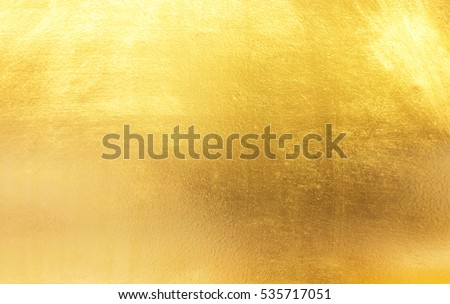 Shiny yellow leaf gold foil texture background #535717051