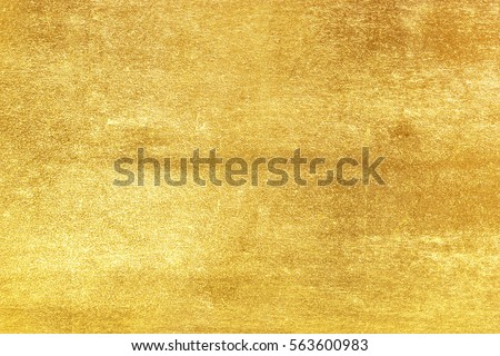 Shiny yellow leaf gold foil texture background #563600983