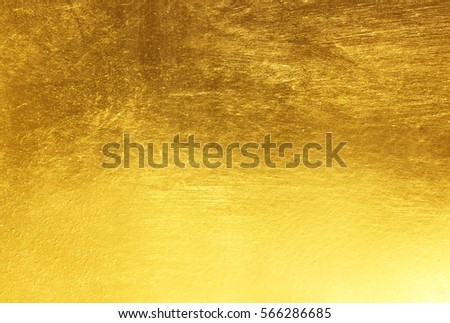 Shiny yellow leaf gold foil texture background #566286685