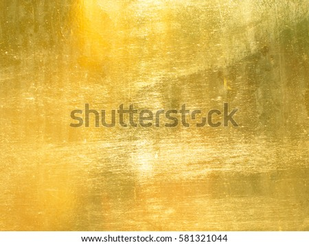 Shiny yellow leaf gold foil texture background #581321044