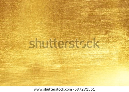 Shiny yellow leaf gold foil texture background #597291551