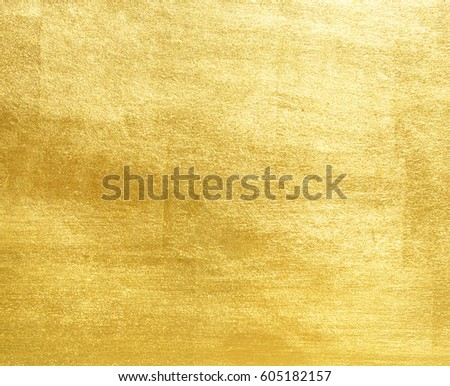 Shiny yellow leaf gold foil texture background #605182157