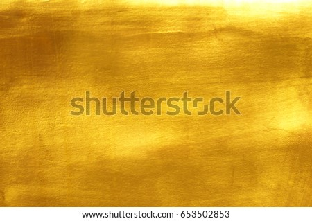 Shiny yellow leaf gold foil texture background #653502853