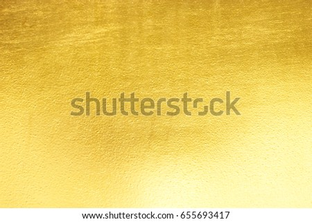 Shiny yellow leaf gold foil texture background #655693417