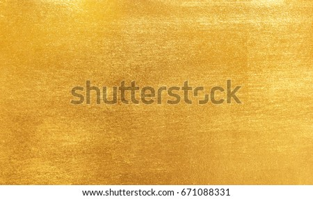 Shiny yellow leaf gold foil texture background - Shutterstock ID 671088331