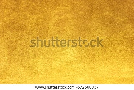 Shiny yellow leaf gold foil texture background #672600937