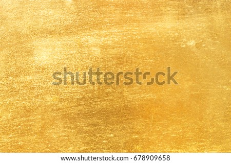 Shiny yellow leaf gold foil texture background #678909658