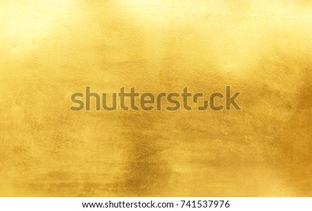 Shiny yellow leaf gold foil texture background #741537976