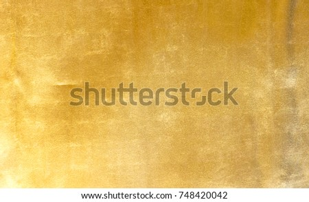 Shiny yellow leaf gold foil texture background #748420042
