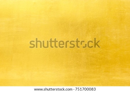 Shiny yellow leaf gold foil texture background #751700083