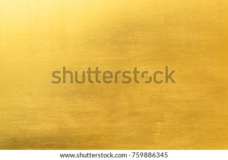 Shiny yellow leaf gold foil texture background #759886345