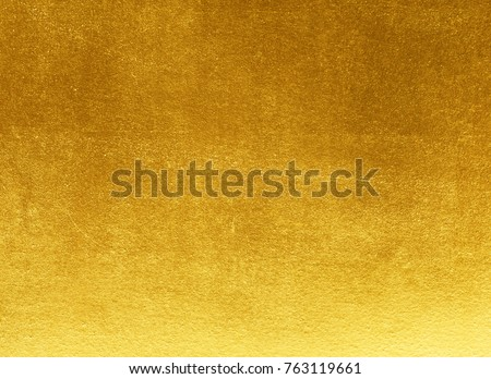 Shiny yellow leaf gold foil texture background #763119661