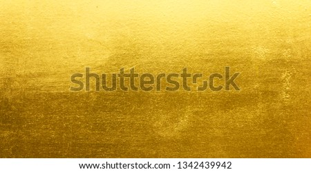 Shiny yellow leaf gold metall texture background #1342439942