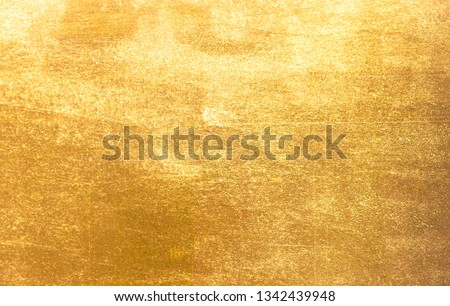 Shiny yellow leaf gold metall texture background #1342439948