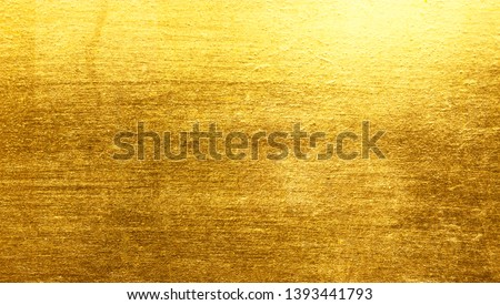 Shiny yellow leaf gold metall texture background #1393441793