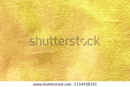Shiny yellow leaf gold paper texture background #1154438101
