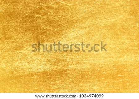 Shiny yellow leaf gold texture background #1034974099