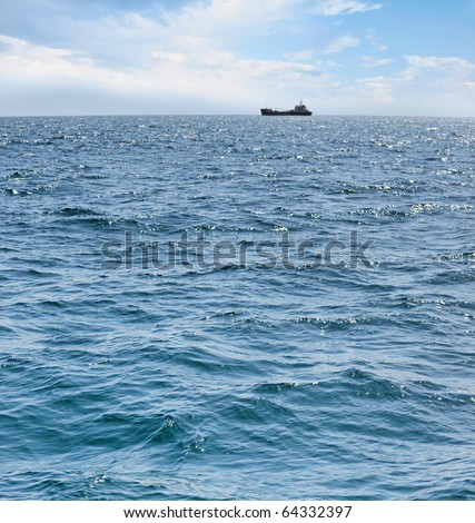 ship at sea - stock photo