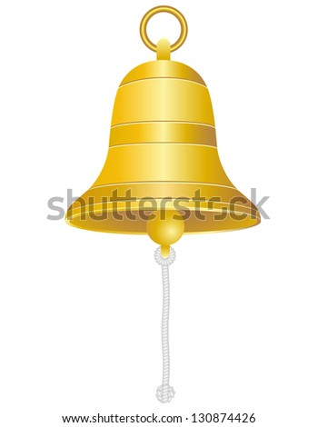 ship bell illustration isolated on white background