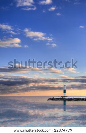 Ship Canal Light Reflection - Sturgeon Bay, Door County, Wisconsin