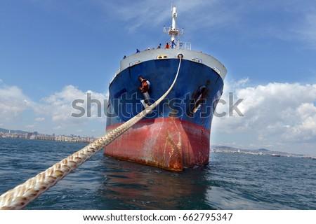 Ship carrying a ship #662795347