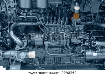 ship engine close detail