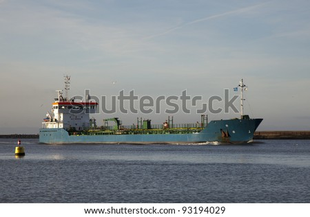ship entering the harbor