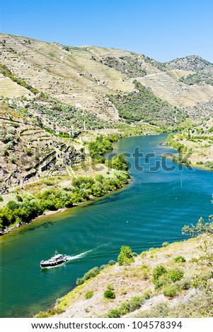 ship in Douro Valley, Portugal