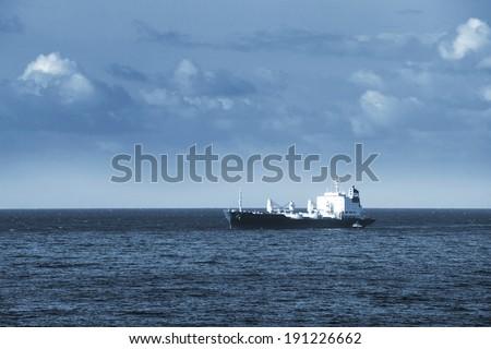ship in the ocean in the sky