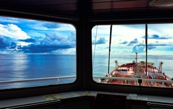 Ship navigation bridge