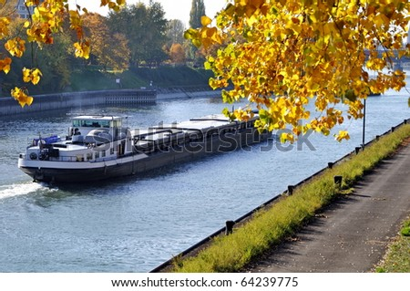 Ship on River Rhine
