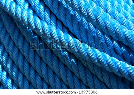 Ship rope in the port of Jaffa