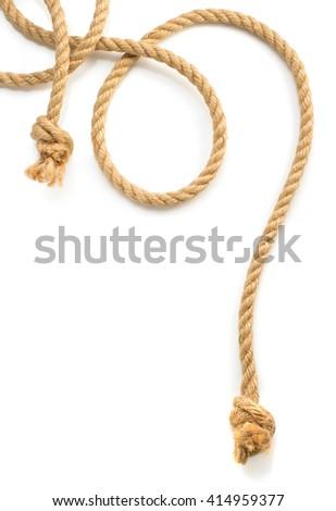 ship rope isolated on white background #414959377