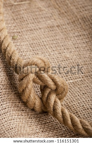 ship ropes on a sacking, a linen fabric background texture