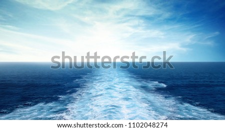 ship sailing waves