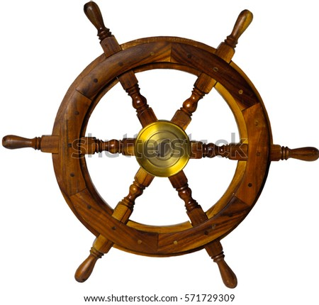 ship steering wheel isolated on ...