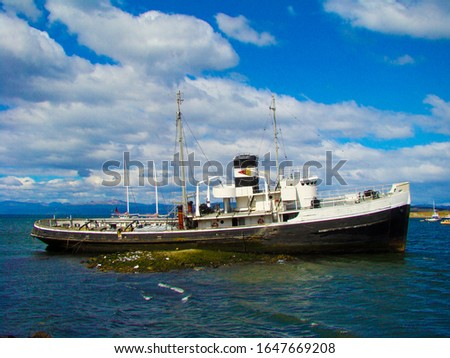 Ship stranded in ushuaia Argentina