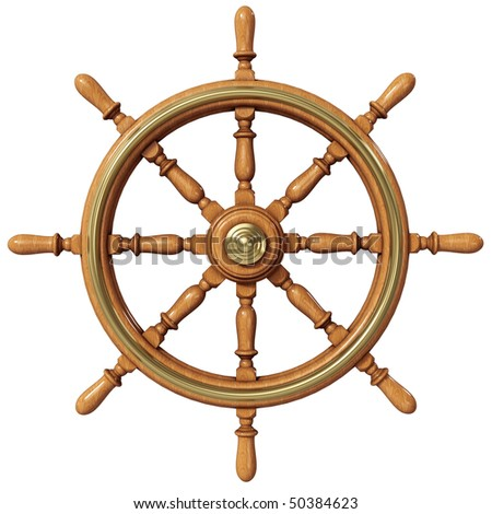 Ship wheel (3d illustration)