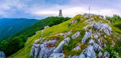 Shipka memorial in the Balkan Mountains of Bulgaria