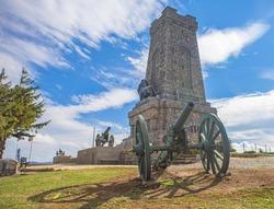 Shipka Monument (aka Monument of The Liberty) is a monumental construction, located at Shipka summit in Stara Planina mountain, near town of Shipka.