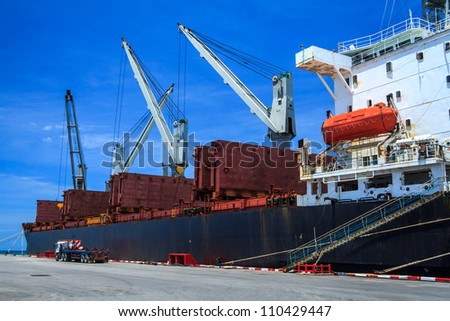 Shipping And Industry Boat