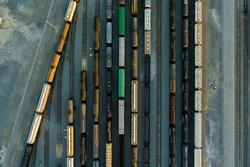 Shipping and Rain Yard Drone Shot